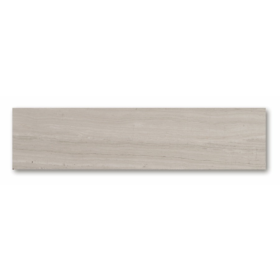 CCI Gray Wood Look Natural Stone Marble Floor Tile (Common: 3-in x 12-in; Actual: 11.97-in x 2.91-in)