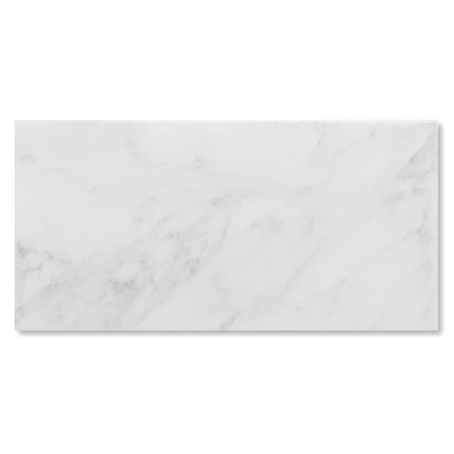 Shop cci white natural stone marble floor tile common 24 in x 12 cci white natural stone marble floor tile common 24 in x 12 dailygadgetfo Choice Image