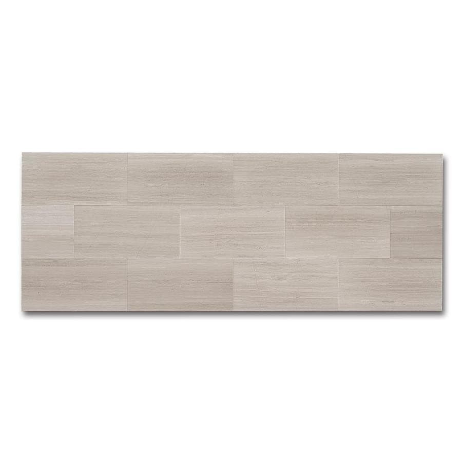 CCI Gray Wood Look Natural Stone Marble Floor Tile (Common: 12-in x 24-in; Actual: 23.97-in x 11.97-in)