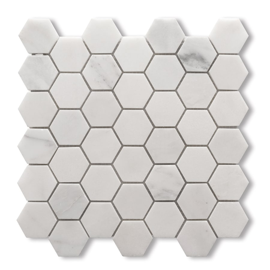 CCI White Mosaic Natural Stone Marble Floor Tile (Common: 12-in x 12-in; Actual: 11.8-in x 11.7-in)