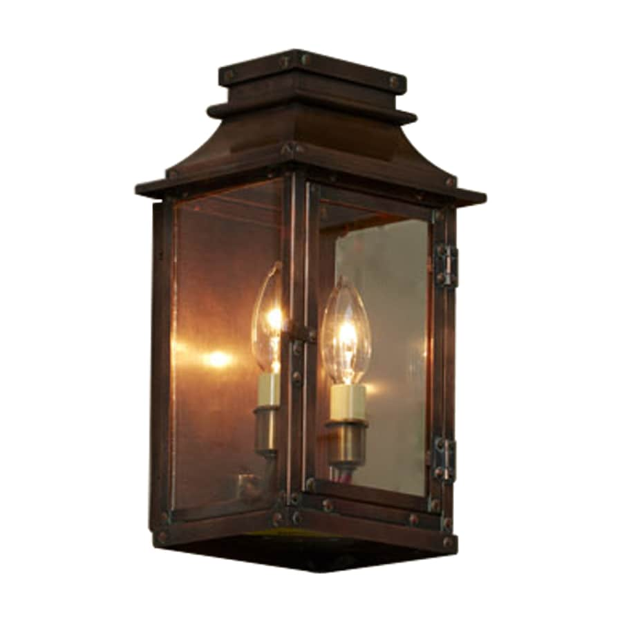 allen + roth New Vineyard 12-in H Antique Copper Outdoor Wall Light