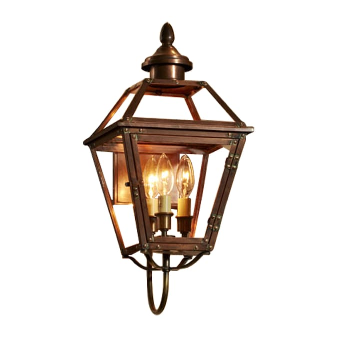Allen Roth New Vineyard 20 125 In H Antique Copper Outdoor Wall Light In The Outdoor Wall Lights Department At Lowes Com