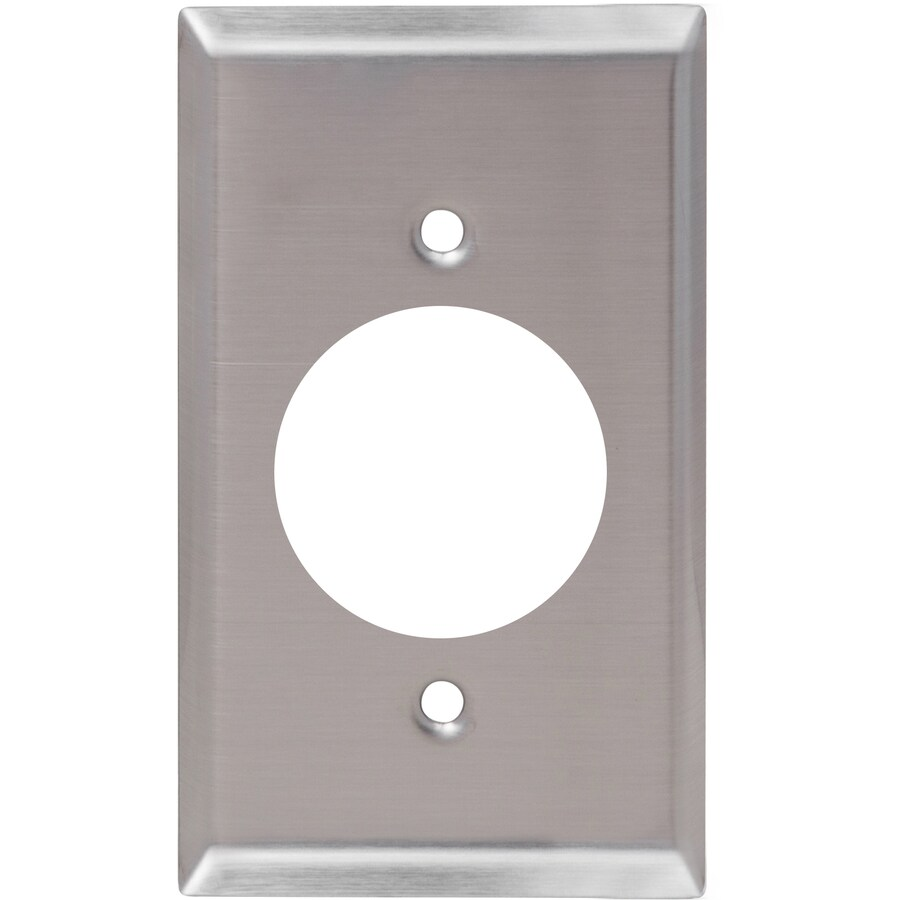 Utilitech 1-Gang Stainless Steel Single Round Wall Plate
