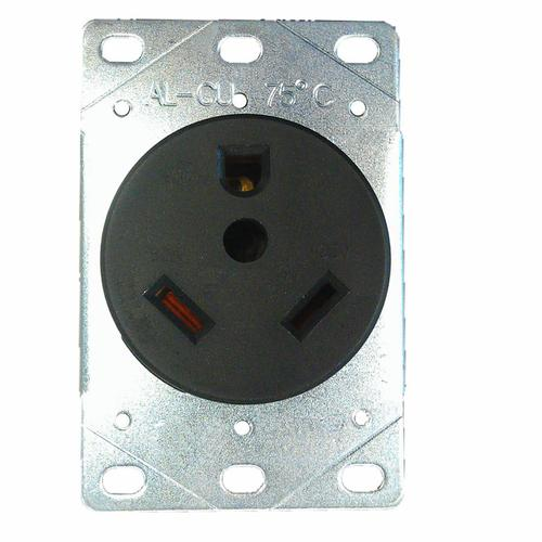 Rv Electrical Outlet >> Black 30 Amp Round Industrial Rv