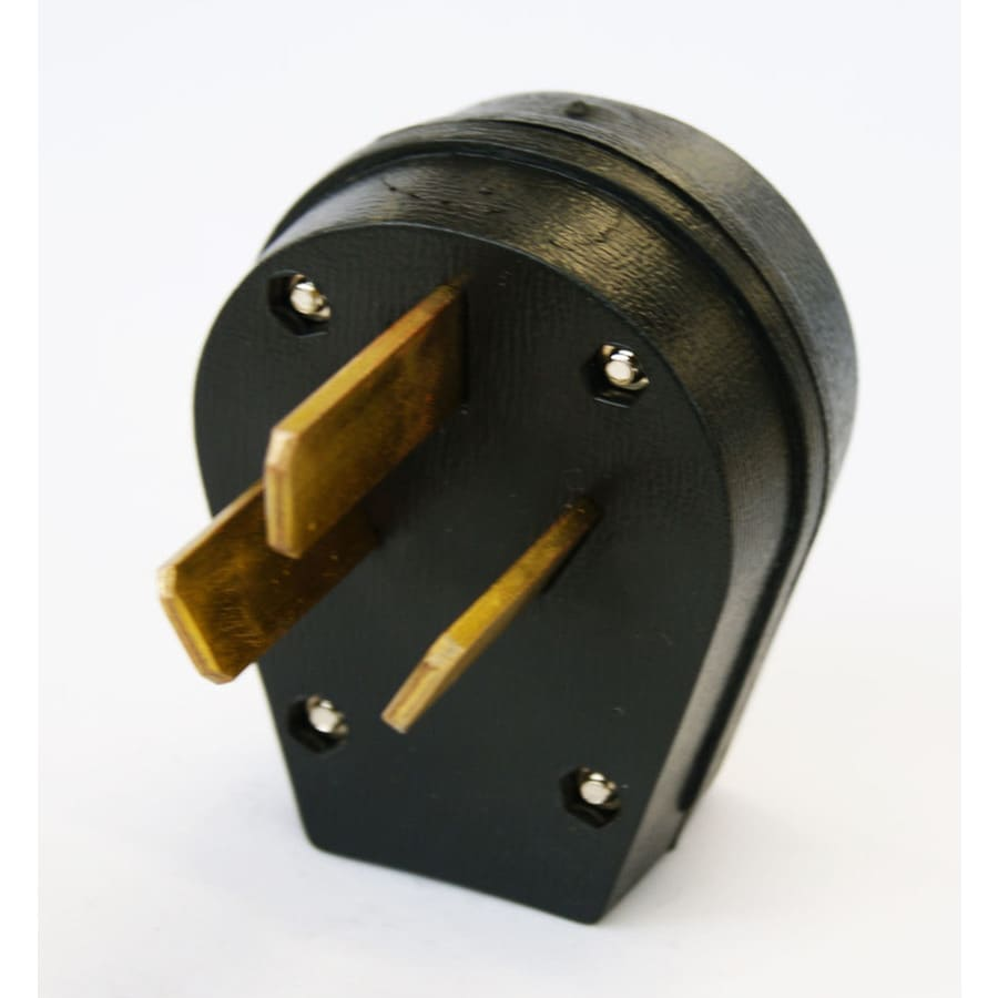 Shop Utilitech 50 Amp 125 250 Volt Black 3 Wire Plug At