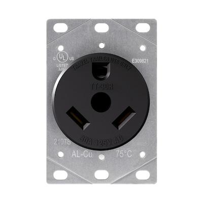 30-Amp-Volt Black 3-Wire Plug on 3 phase plug, 3 wood plug, 3 prong plug, 3 pin plug, 2 wire plug, 6 wire plug, 4 wire plug,