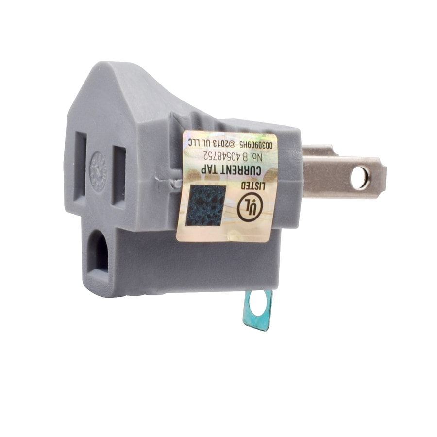 Project Source 15-Amp 2-Wire Single to Single Gray Basic Adapter