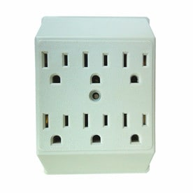 shop electrical outlet adapters splitters at. Black Bedroom Furniture Sets. Home Design Ideas