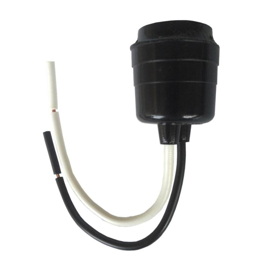 Shop project source 660 watt black lamp socket at Light bulb socket