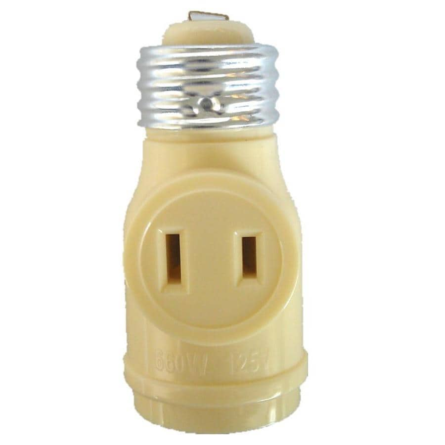 Project Source 660 Watt Ivory Medium Light Socket Adapter
