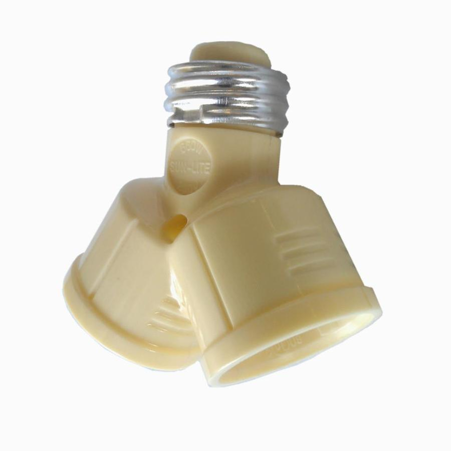 Project Source 660-Watt Ivory Medium Light Socket Adapter