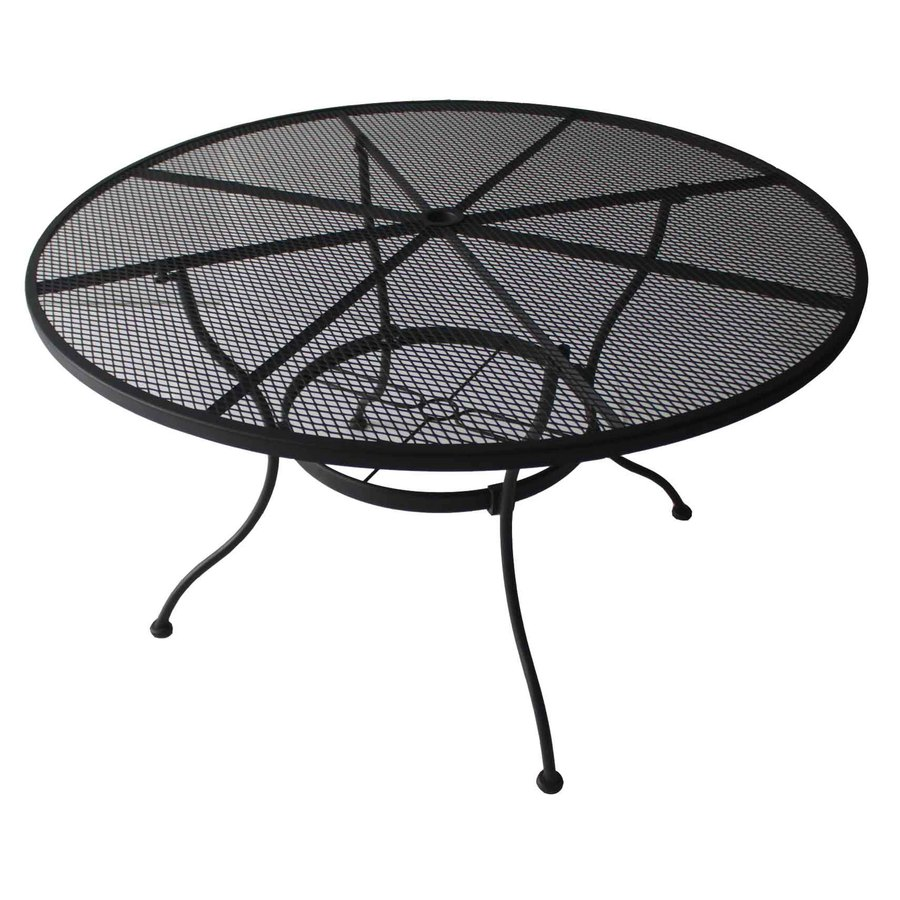 Garden Treasures Davenport 48-in W x 48-in L Round Steel Dining Table