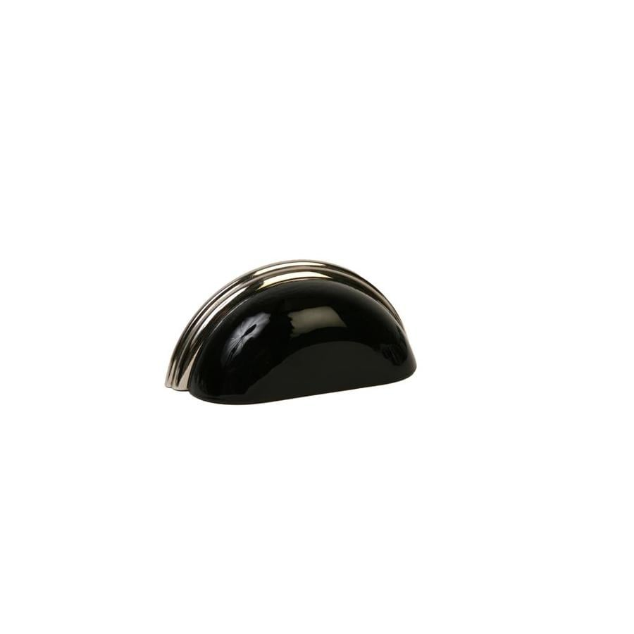 Lew S Hardware Gl Bin Pulls 3 In Center To Black Polished Nickel Oval Cup Cabinet Pull
