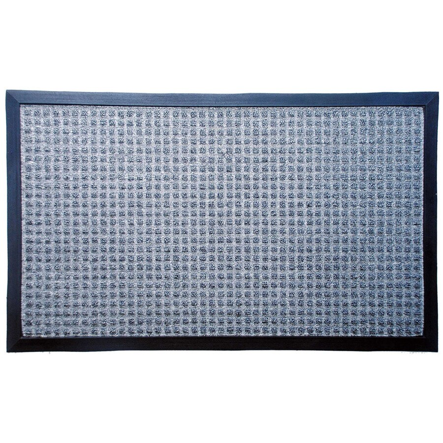 Blue Hawk Gray Rectangular Door Mat (Common: 1-1/2-ft X 2-1/2-ft; Actual: 17.64-in x 29.4-in)