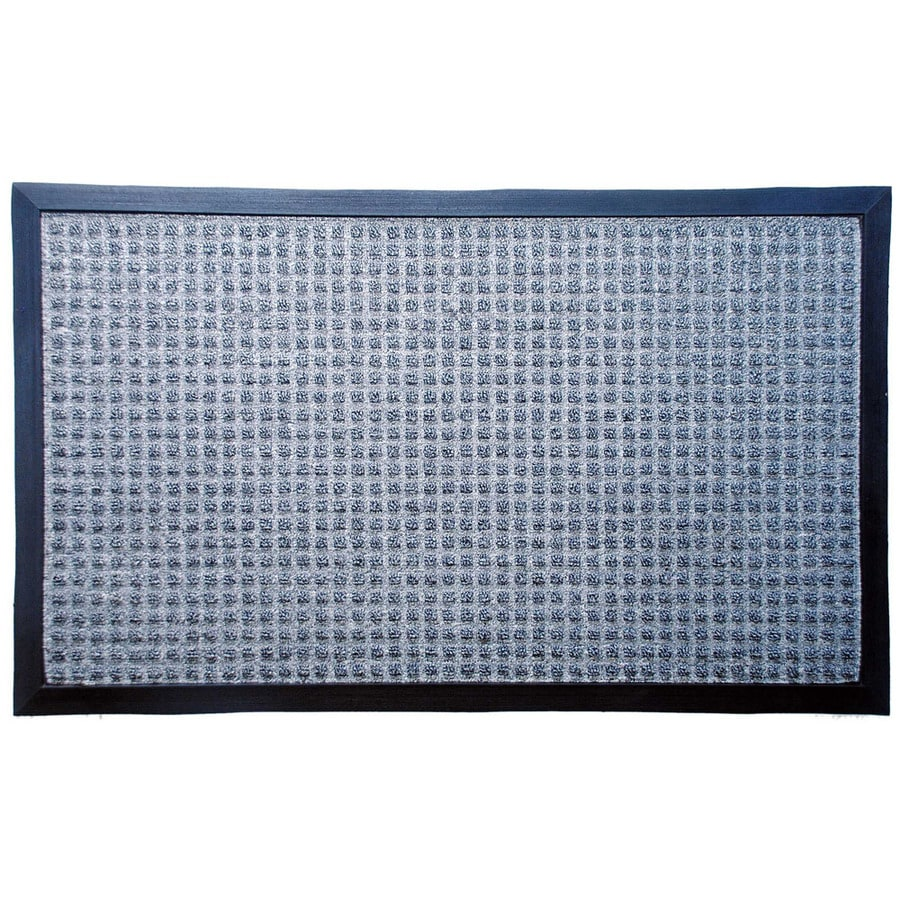 Blue Hawk Gray Rectangular Door Mat  Common  1 1 2 ft. Shop Blue Hawk Gray Rectangular Door Mat  Common  1 1 2 ft X 2 1 2