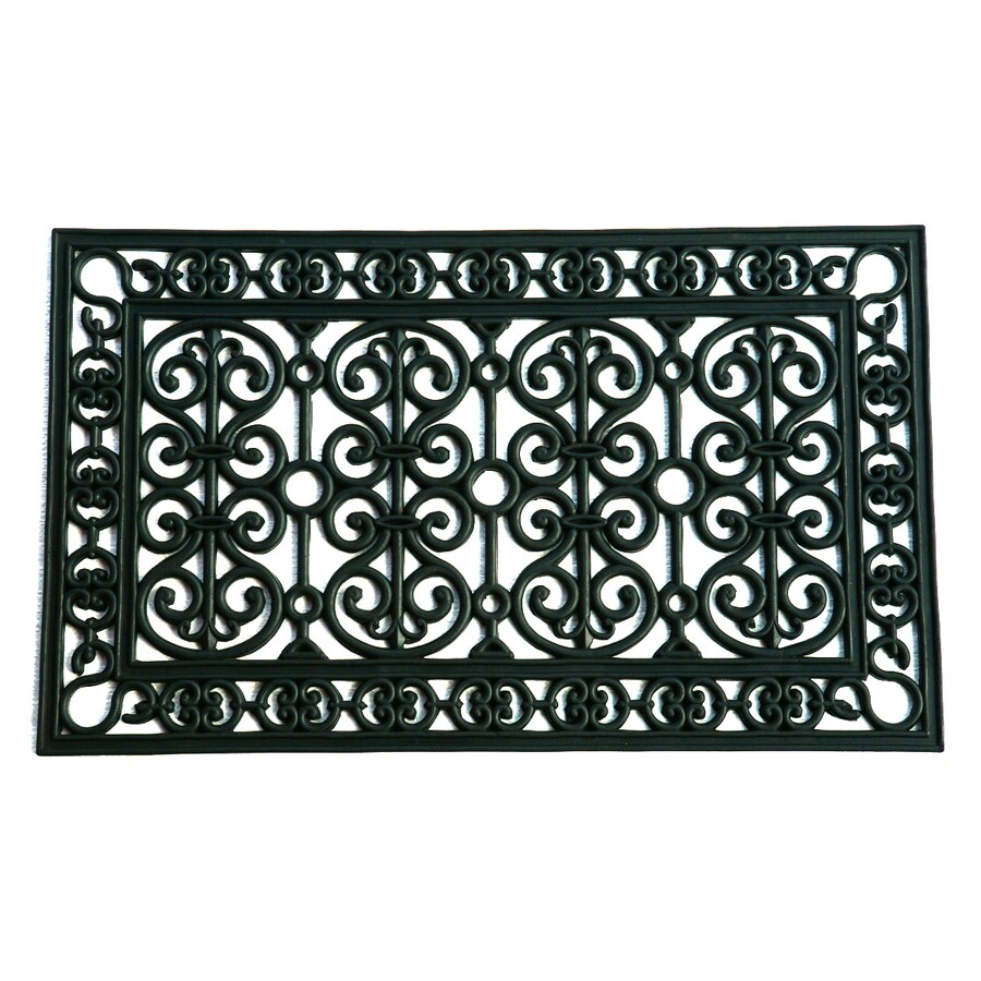 allen + roth Black Rectangular Door Mat (Common: 18-in x 30-in; Actual: 17.8-in x 29.8-in)