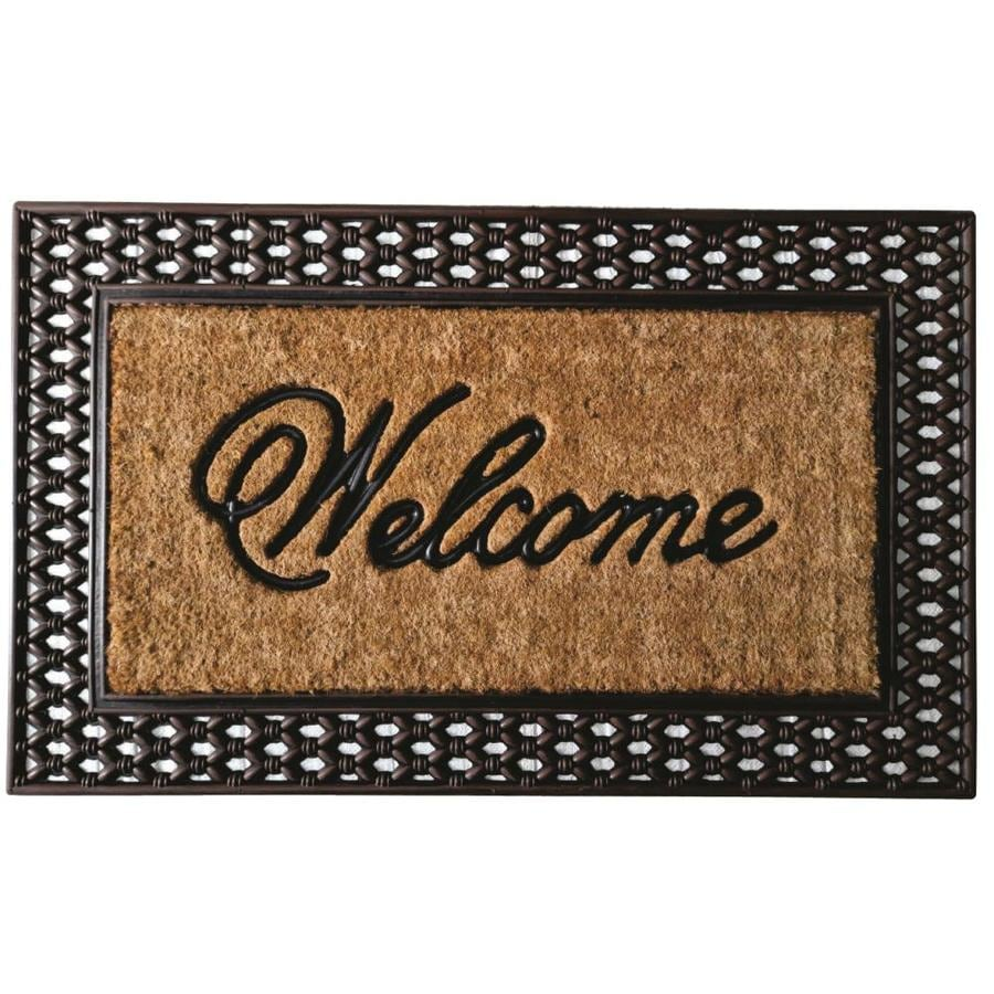 Style Selections Black Rectangular Door Mat (Common: 2-ft X 3-ft; Actual: 23.75-in x 39-in)
