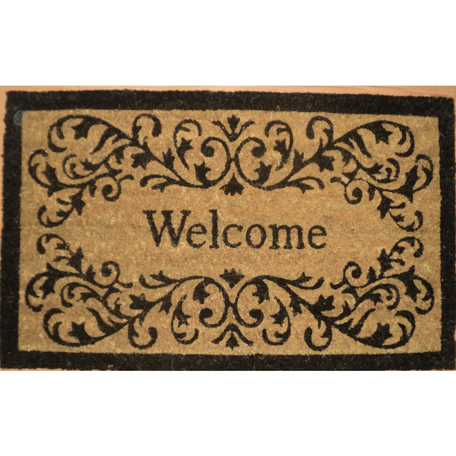 allen + roth Rectangular Door Mat (Actual: 17.6-in x 29.4-in)