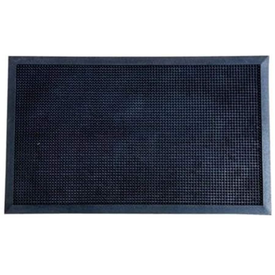 Blue Hawk Black Rectangular Door Mat (Common: 36-in x 48-in; Actual: 36-in x 47.75-in)