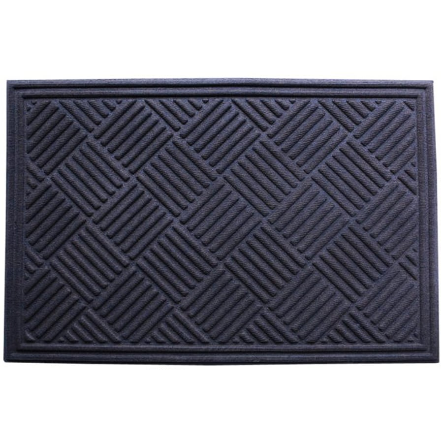 Blue Hawk Walnut/Onyx Rectangular Door Mat (Common: 24-in x 36-in; Actual: 24-in x 35.5-in)