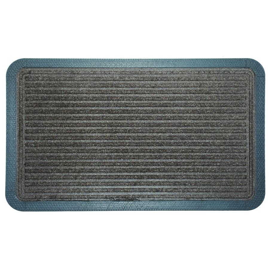 Blue Hawk Brown/Black Rectangular Door Mat (Common: 18-in x 30-in; Actual: 17.5-in x 29.25-in)