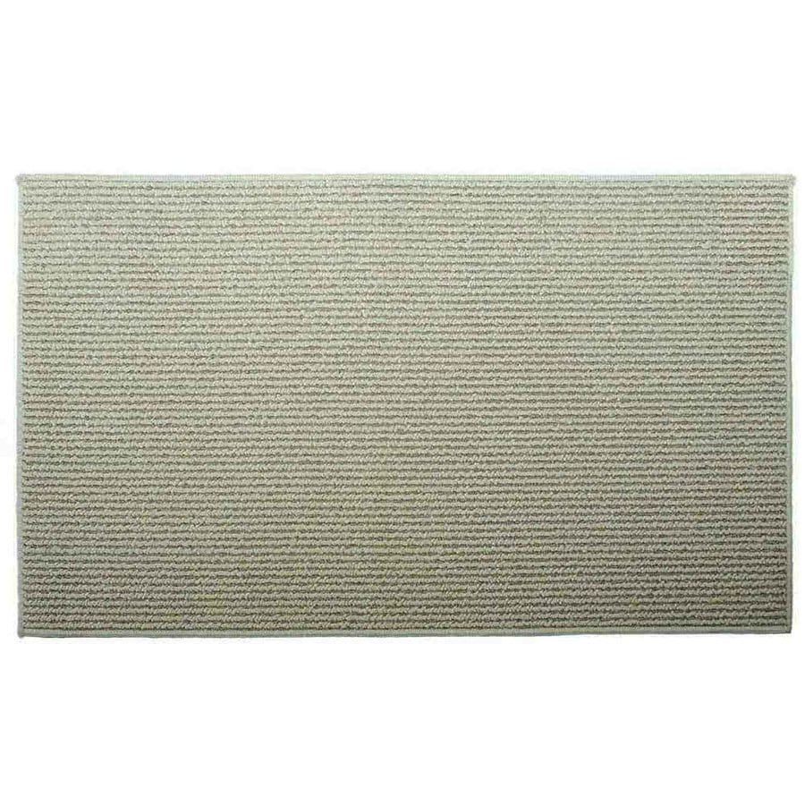 Style Selections Biscuit Corn Rectangular Indoor Tufted Throw Rug (Common: 2 x 3; Actual: 2-ft W x 3.33-ft L)