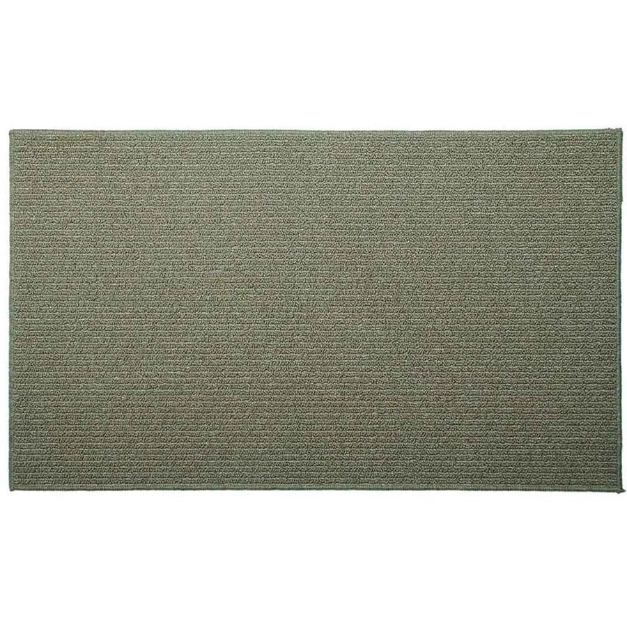 Style Selections Lichen Corn Rectangular Indoor Tufted Throw Rug (Common: 2 x 3; Actual: 2-ft W x 3.33-ft L)