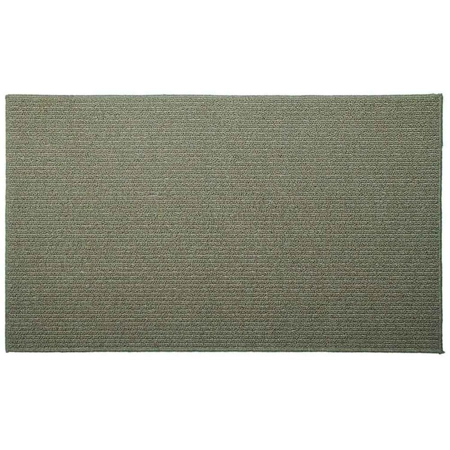 Style Selections Lichen Corn Rectangular Indoor Tufted Throw Rug (Common: 2 x 5; Actual: 24-in W x 60-in L)