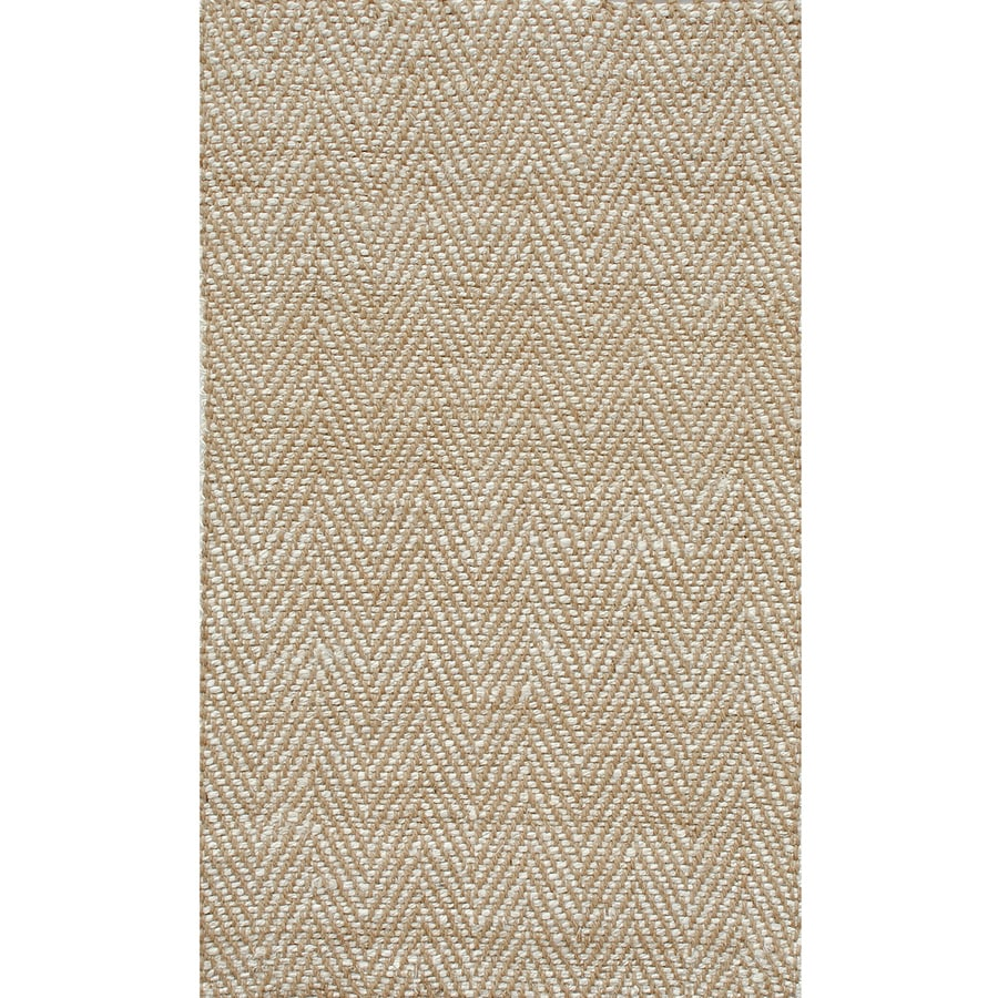 allen + roth Dovequay Natural Rectangular Indoor Woven Area Rug (Common: 5 x 7; Actual: 5-ft W x 7-ft L x 0.67-ft Dia)