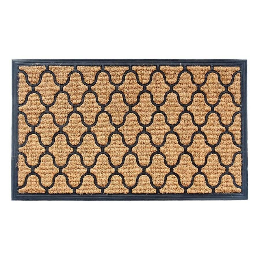 Style Selections Rectangular Door Mat (Actual: 17.75-in x 29.5-in)