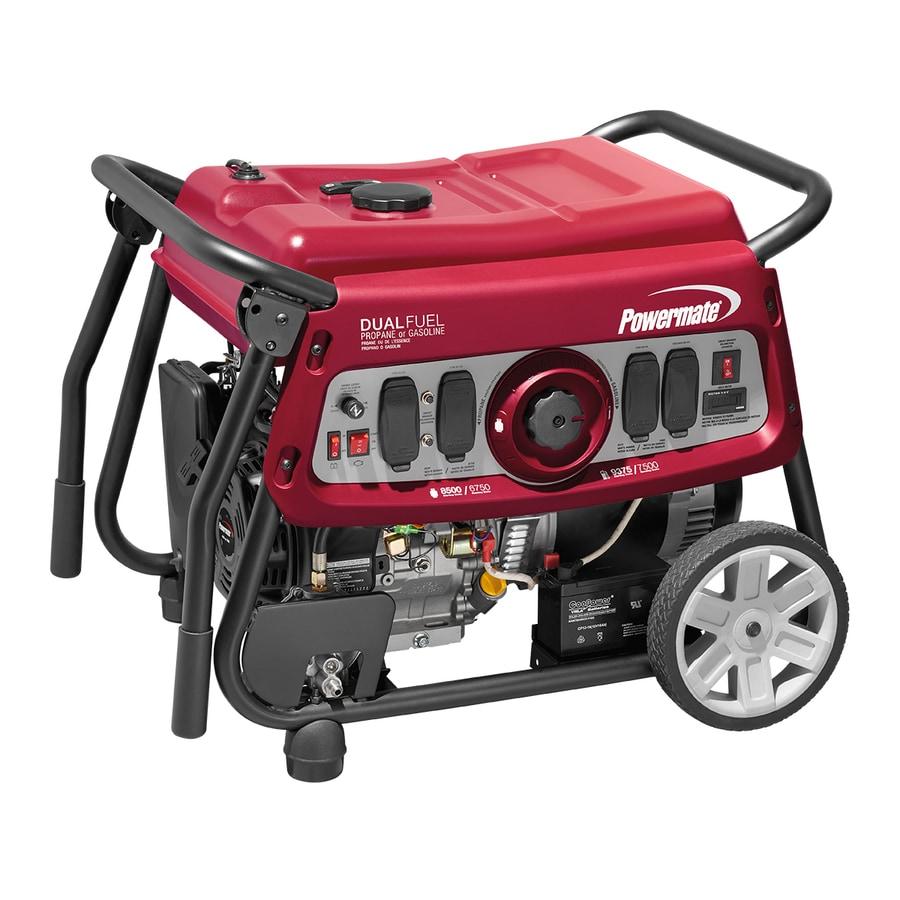 Powermate 7500 Watt Dual Fuel Electric Start Portable Generator At