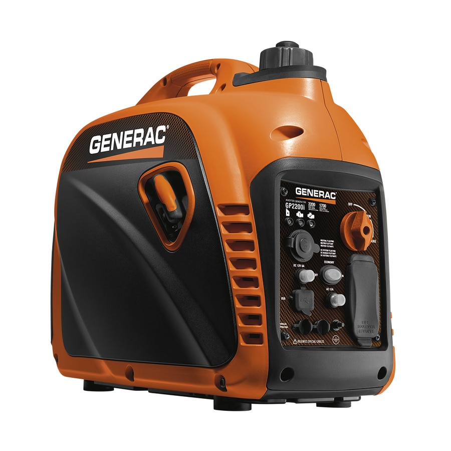 Generac GP 2200i 1700-Running-Watt Inverter Portable Generator with Generac Engine