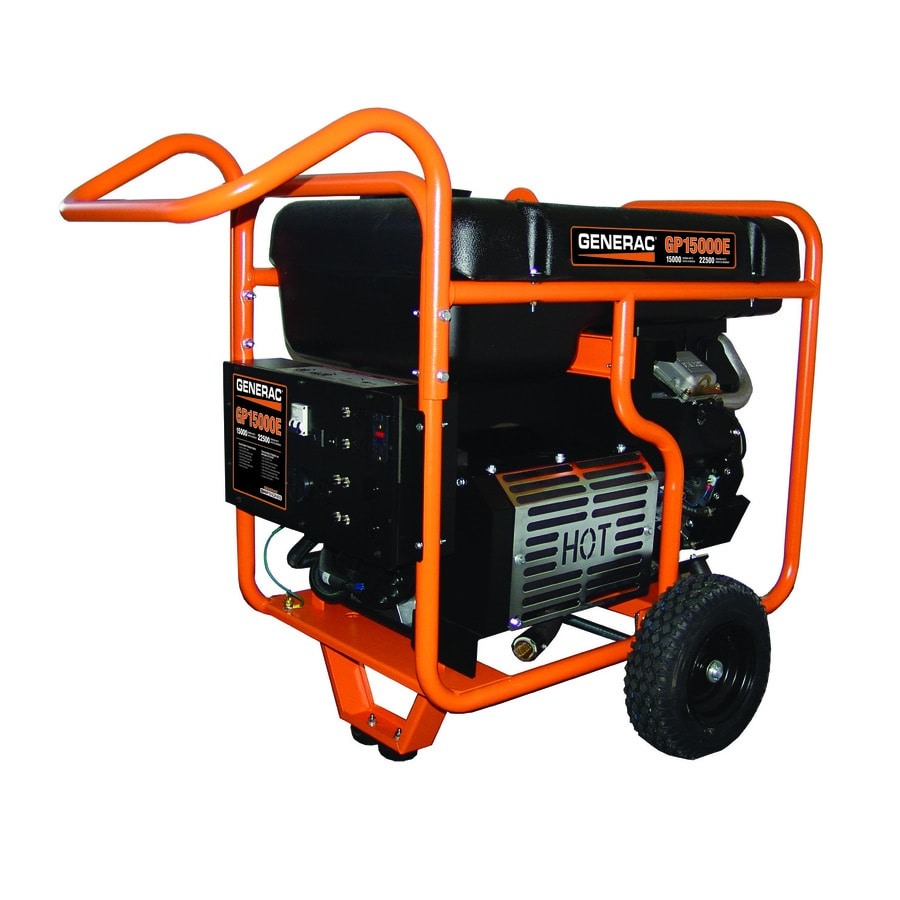 Generac GP 15000-Running-Watt Portable Generator with Engine