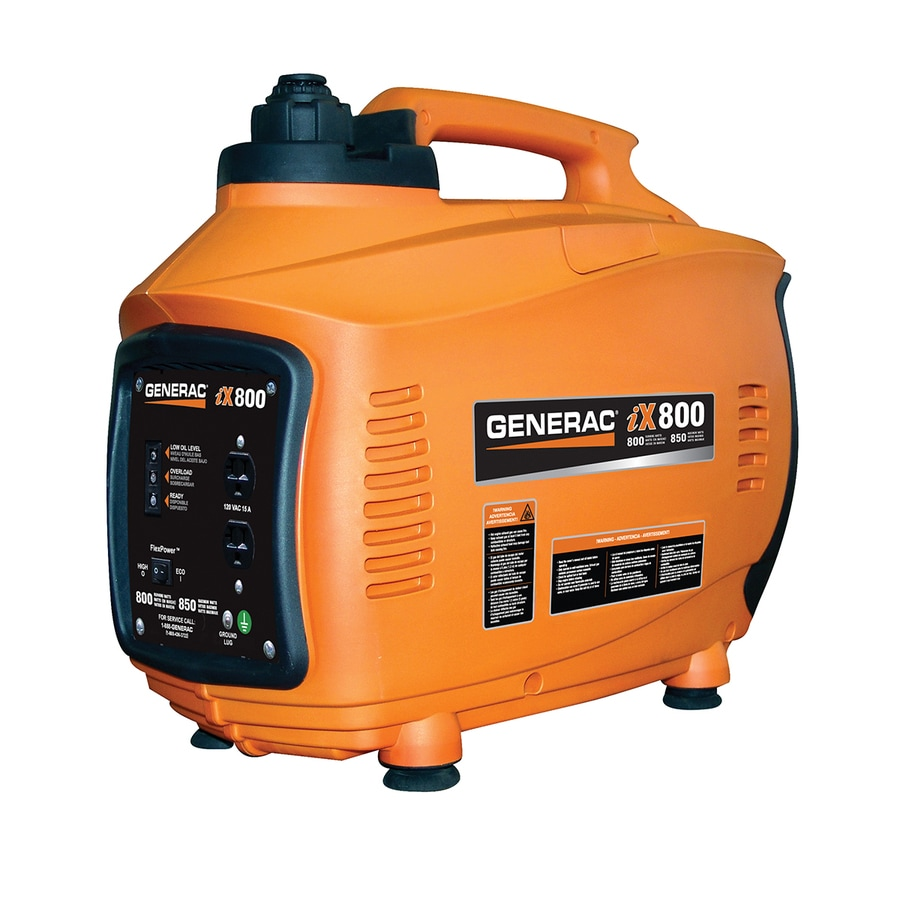 Generac iX 800-Running-Watt Inverter Portable Generator with Generac Engine