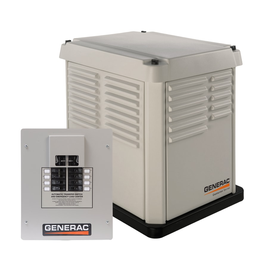 Generac Centurion 7000-Watt (LP)/6000-Watt (NG) Standby Generator with Automatic Transfer Switch