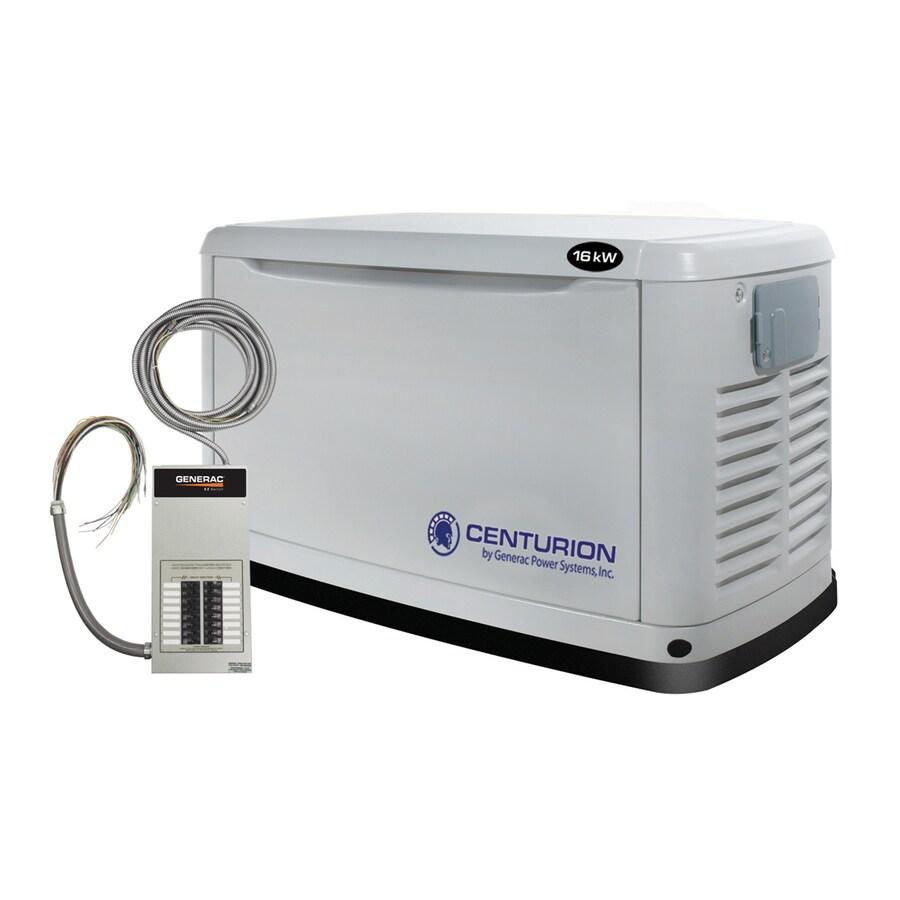 Centurion by Generac Power Systems Centurion 16000-Watt (LP)/16000-Watt (NG) Standby Generator with Automatic Transfer Switch