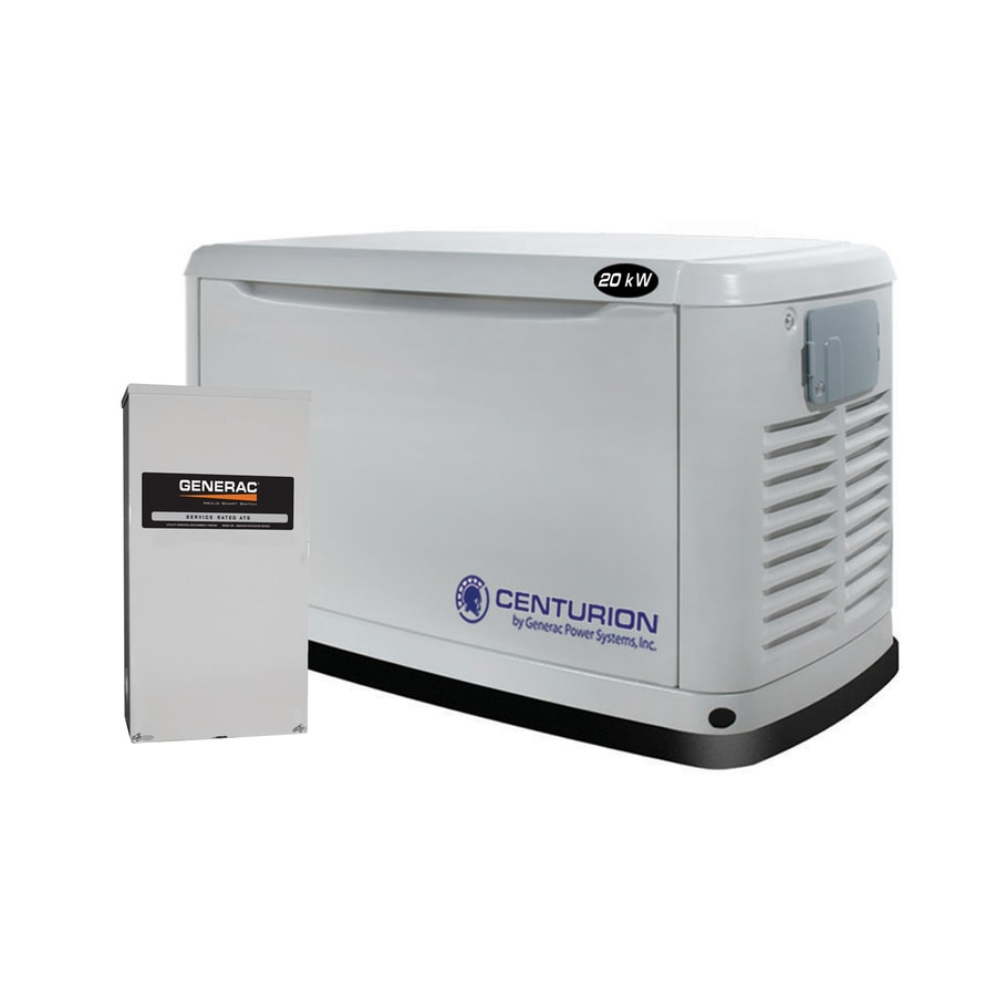 Centurion by Generac Power Systems Generac Centurion 20,000 Watts (LP)/18,000 Watts (NG) Standby Generator with Automatic Transfer Switch