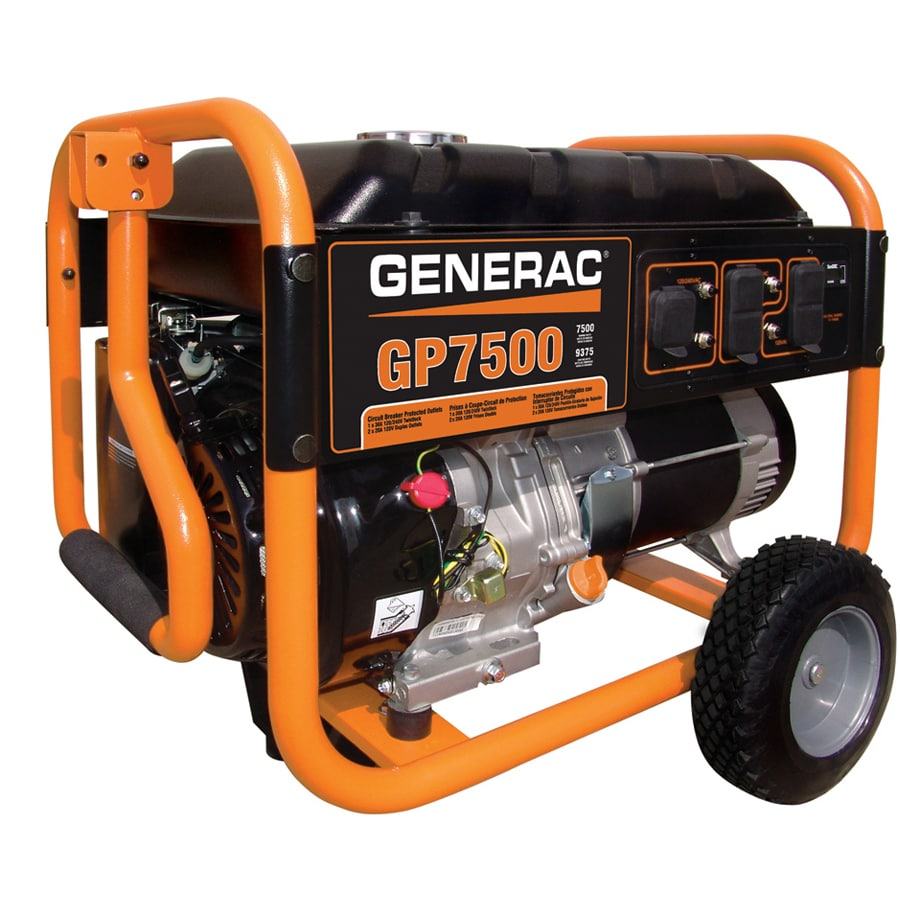 Generac GP 7500-Running Watts Portable Generator