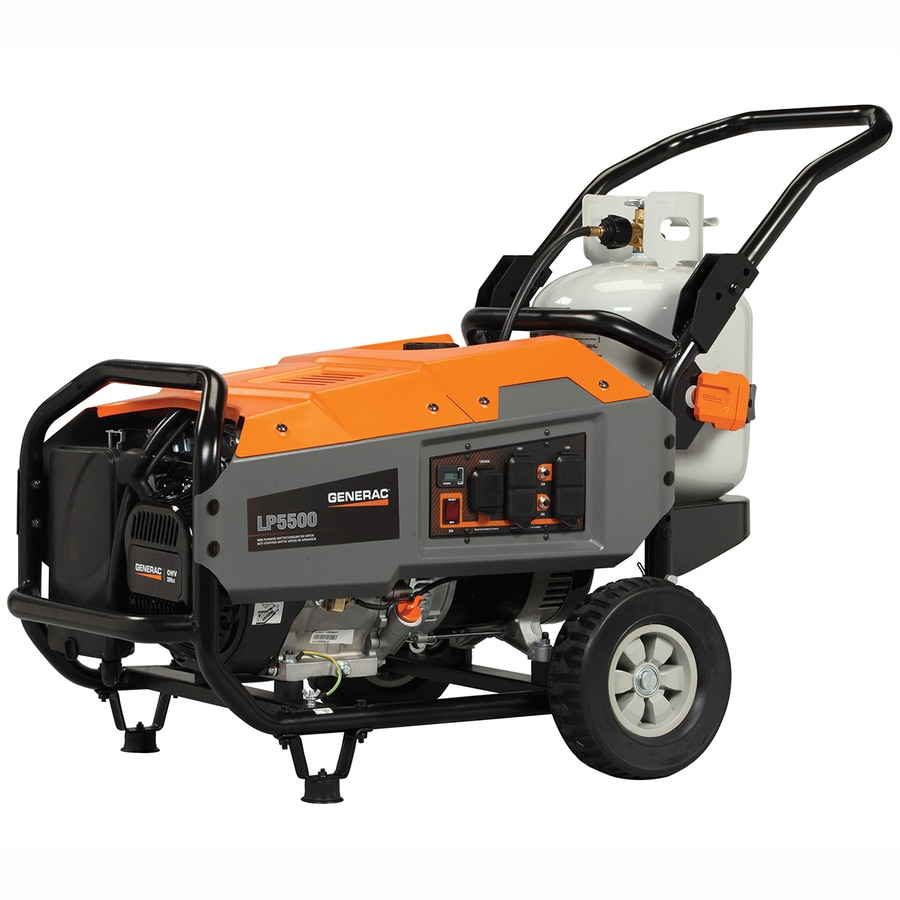 Generac LP 5,500-Running-Watt Portable Generator with Generac Engine