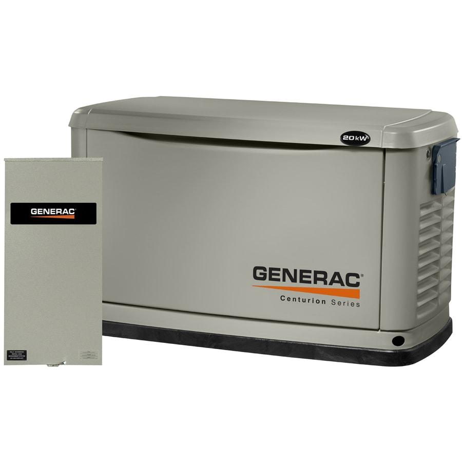 Generac Centurion 20000-Watt (LP)/18000-Watt (NG) Standby Generator with Automatic Transfer Switch