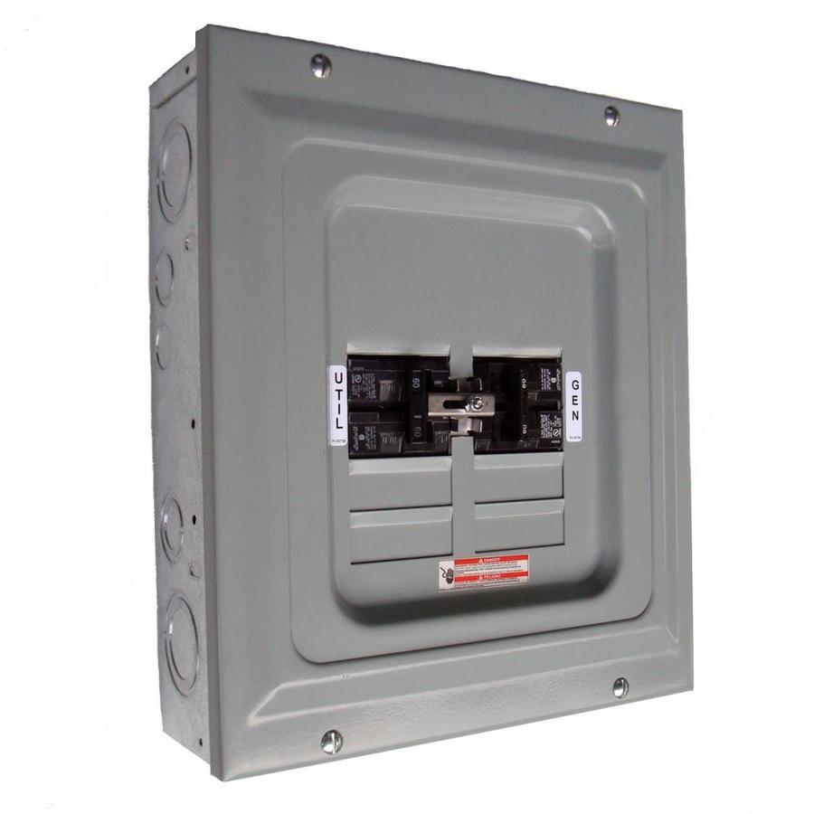 generac 60 amp single load manual transfer switch at lowes com  circuit manual transfer switch