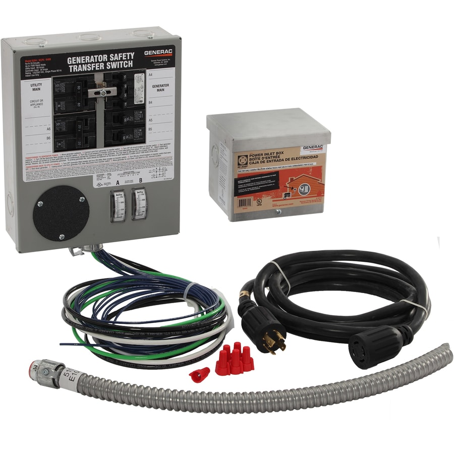 Shop Generac Manual Transfer Switch 8000-Watt Generator Transfer ...