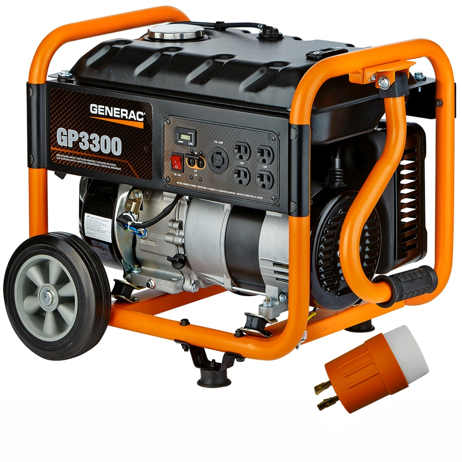 Generac GP 3,300-Running Watt Portable Generator with Engine