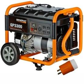 Generac GP 3300-Running-Watt Portable Generator with Generac Engine