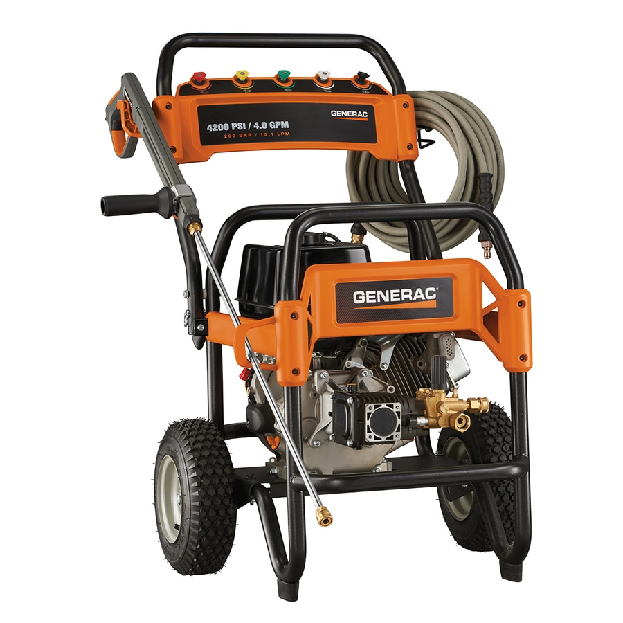Generac 4200 Psi 4 Gpm Cold Water Gas Pressure Washer At