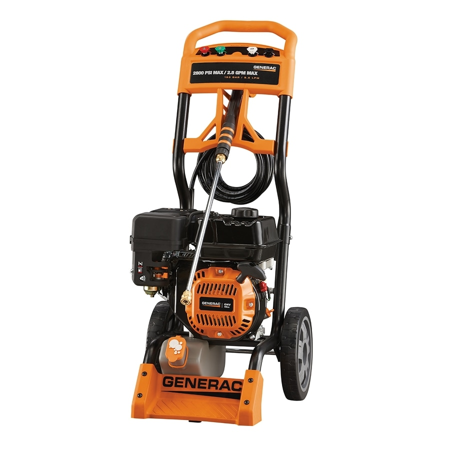 Generac 2800 Psi 2 5 Gpm Cold Water Gas Pressure Washer At