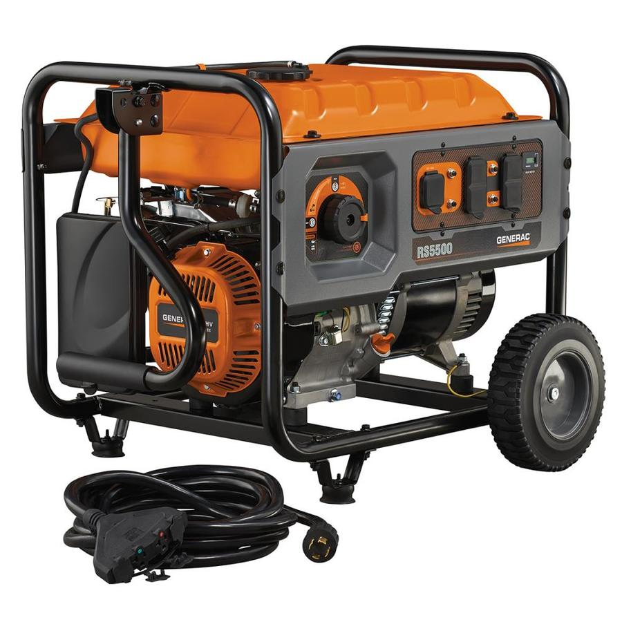 Generac Rapid Start 5500-Running-Watt Portable Generator with Generac Engine