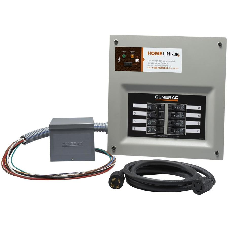 shop generator transfer switch kits at lowes com generac homelink upgradeable 30 amp manual transfer switch