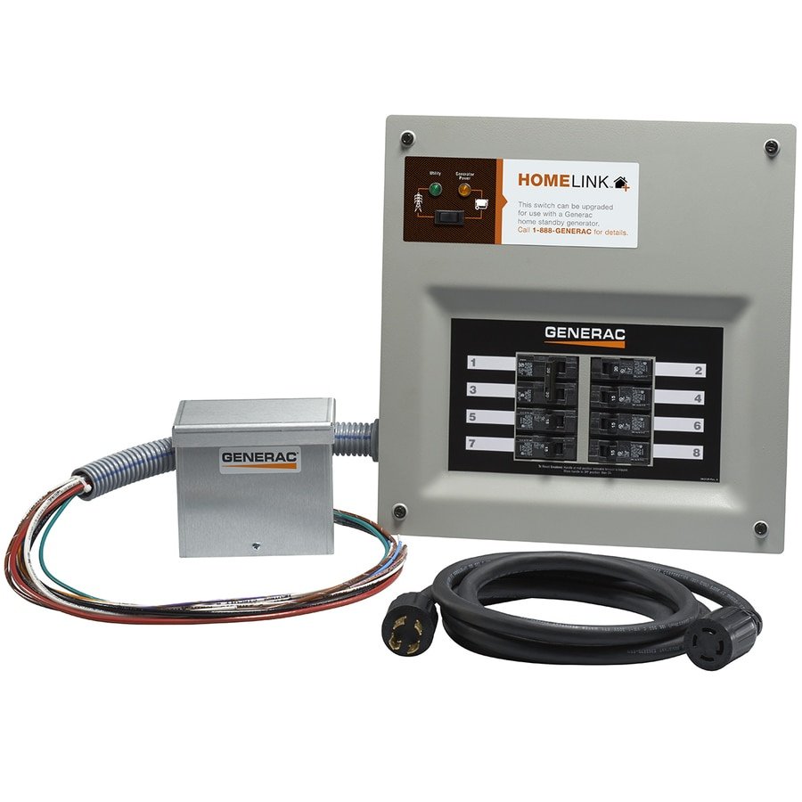 generac homelink upgradeable 30 amp manual transfer switch with aluminum  power inlet box