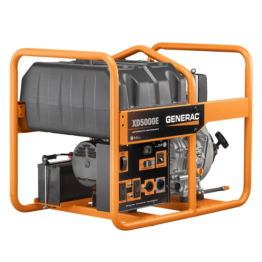 Generac XD 5000-Running-Watt Portable Generator with Generac Engine